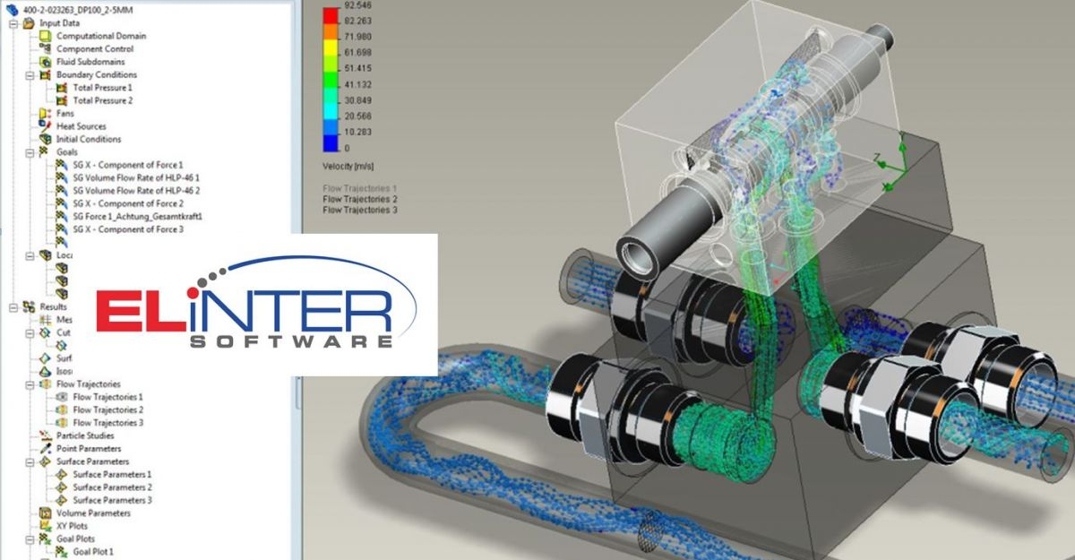 Elinter CREO CFD Software thermische fluide Simulation Tool