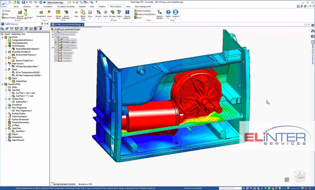 Elinter FloEFD Mentor CFD Simulation Dienstleistungen Software Solid Edge Analysis
