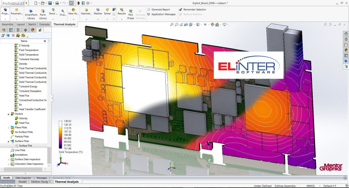 Elinter FloEDA CFD Simulation Software thermal vias FloThern FloEFD